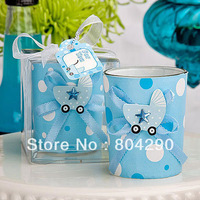 2014 glass candle tealight holder with baby shower decoration party gifts