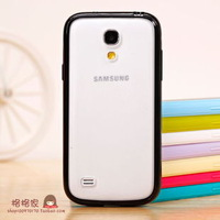 Transluscent Hard back Cover + TPU Rubber phone case for Samsung s4 mini  i9190 i9195 drop shipping