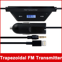 Trapezoidal FM Transmitter & Car Charger for iPhone 5 (Black)