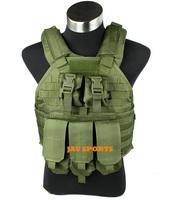 TMC USMC SPC Tactical Vest (OD) 1000D Nylon Hold Plate USMC Army Vest With Pouch+Free shipping(SKU12050221)