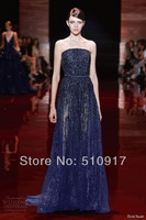 Free shipping sweetheart strapless a-line silk sequined floor length myriam fares celebrity dresses silk dress david jones