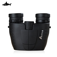 Free shipping! Shark Asika 10X25 HD Binocular Telescope BAK4 Green Film Waterproof,Fogproof
