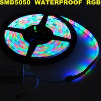 Fedex Free! led flexible 300leds DC12V waterproof strip rgb light 5M/roll , SMD 5050 Wholesale!