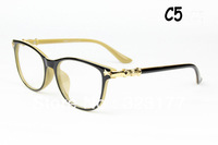 1pc Gold Crown Man Woman Optical Frames Plain Mirror Retro Anteojos Oculos Eye Glasses Lentes Gafas Armazones Lunettes free ship