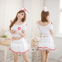 ** whole sale ** sex women costumes dress, nurse cosplay uniform temptation, lace sexy dress, 10pcs/lot, free shipping