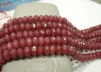 Nice 5x8mm Faceted Pink Ruby Stone Loose Beads 15''