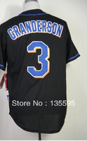 Hot Promotion!Cheap,#3 Curtis Granderson Men's Black 2014 New Embroidery logos Baseball Jerseys Sale Free Shipping,Can mix order