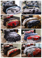 Hot New Listing Modern Fashion Sports Car Printed Duvet Cover Comforter Bedding Sets 4 or 5pcs Full Queen Cotton Oil Painting