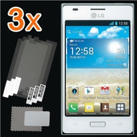 Retail Packing New 3x CLEAR LCD Screen Protector Guard Protective Film Cover Film For LG Optimus L5 E610 E612 Free Shipping