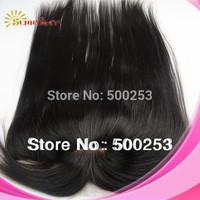 Custom (13x4) straight virgin Peruvian hair 4x4 silk base top closures lace frontals with bang