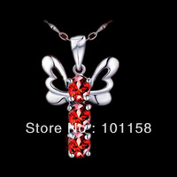 Guaranteed 100% 925 silver jewelry+ Natural garnet Pendant  fashion jewelry promotion ,SP0135G