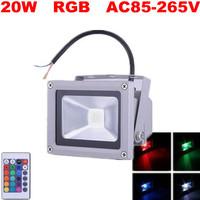 8pcs Input 220v 110v Hot sale 20w RGB RGB led Flood Light Waterproof CE&ROHS Remote Controller, FEDEX FREE