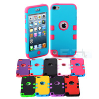 Multicolor Hybrid 3 in 1 High Impact Case Cover For Apple iPod Touch 5 5th Generation + Pen A54