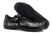 Best Quality2013 Free Shipping Hot Sale Indoor Soccer Shoes Cleats Boots Black/Orange/White CR7 Personal Special VersionWholesal