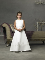Straps White Sleeveless Embroidery Cheap Flower Girl Dresses For Sale