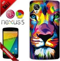 Nexus 5 Tiger Colored Drawing Hard Case,For LG Nexus5