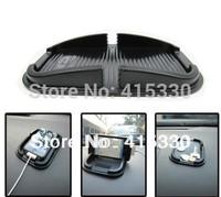 100% Cheapest Price-Black color car Anti Slip pad Rubber Mobile Phone Shelf Antislip Mat For GPS/ MP3/ IPhone/ Cell Phone Holder