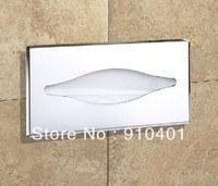 Hot Sale Wholesale And Retail Promotion Modern Inwall Polished Chrome Brass Toilet Paper Holder Tissue Box Wall Mounted