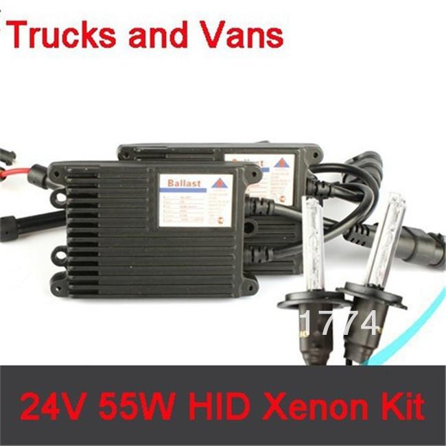 24V 35W Trucks Vans Cars HID Xenon Headlamp conversion lighting kit H1 H3 H7 parking car styling auto parts atv Accessories(China (Mainland))