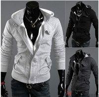 Bran-New Fashion Very Men's Slim Fit Outwear Tops Hoodie Jacket Coat Sweatshirt