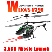 Free shipping wl toys v398 3.5CH Missile launch 360 Degree Rotation WL V398 RC Helicopter /rc toys