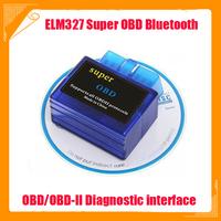 OBD2 OBD-II Super Mini ELM 327 V2.1 Bluetooth Car Auto OBD2 Diagnostic Scanner Tool elm327 Super scanner Free shipping