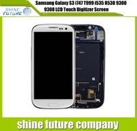 For Samsung Galaxy S3 III I747 T999 I535 R530 9300 9305 9308 Screen & Touch  Digitizer Assembly with Frame White FreeShipping
