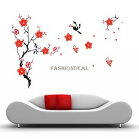 2014 New landscape Blossom Flowers Tree Mural Wall Stickers Home Decor art Decal Reusable TK1422