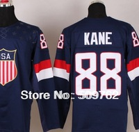 2014 Olympic USA Hockey Jersey wholesale #88 Sidney Crosby Jerseys etc MixOrder Customized FreeShip by DHL just 4days