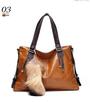 2014 New Women Real Genuine Wax Oil Leather Handbag Cross Body Cowhide Messenger Bag Vintage Restore Ancient Way One Shoulder