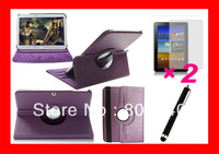 4 in 1 ,Leather Magnetic Smart Case For Samsung Galaxy Tab 3 10.1 P5200 P5210 10.1 inch+2Protector+Stylush Free Shipping