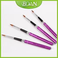 Kolinsky Nail Art Brush Acrylic 3d Nail Art Brush Popular Artiste Nail Brush 10pcs/ Lot Size 8