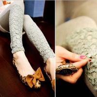Potter processing lace leggings stretch pants feet