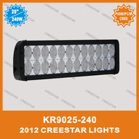 "240w dual row cree led light bar 20"" CREE LED WORK LIGHT BAR KR9025-240"