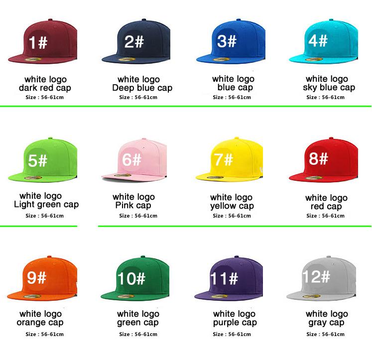 men's and women's baseball cap hat color hip-hop flat cap free shopping(China (Mainland))