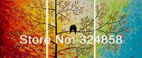 Handmade Painting Artwrok Love Birds Tree Landscape Oil Painting On Canvas Palette Knife Modern Painting Home Decor Wall Art 007