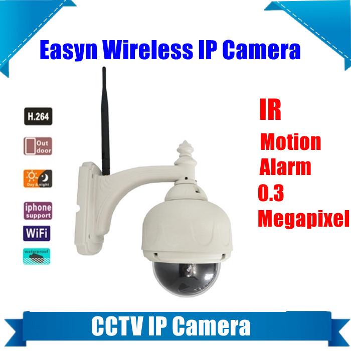 Easyn F-M10R 0.3 Megapixel hidden Outdoor IR Nightvision waterproof PT Wireless WIFI cctv security System IP Camera Webcam(China (Mainland))