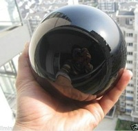 Hand exquisite NATURAL SALE Wonderful Natural Black Obsidian Sphere Large Crystal Ball Healing Stone 80mm + Stand