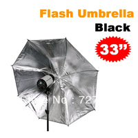 "Wholesale FOTGA 33""83cm Photo Studio Flash Light Reflector Reflective Black Sliver Umbrella"