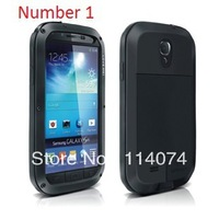 Original Extreme Dirtproof Waterproof Metal Aluminum Case For Galaxy S3 i9300 + Gorilla Glass,1pcs,Free Shipping