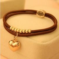 24pcs/lot Elastic Crown Heart Charms Rope Bracelets& Hair Rope MB051 Magi Jewelry