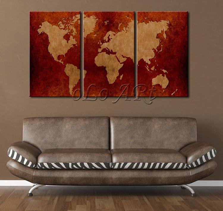 Online kopen wholesale omlijst wereldkaarten uit china omlijst wereldkaarten groothandel - Kleur schilderij slaapkamer volwassen foto ...