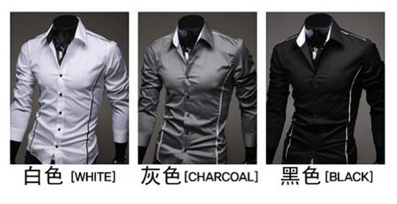 Wholesale and retail2014 hot sale Free Shipping New Mens Shirts Casual Slim Fit Stylish Mens Dress Shirts 5902(China (Mainland))