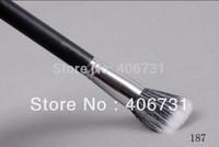 Wholesale  Full size Foundation Blush skin care black 187 Duo Fiber Stippling Brush makeup tool,free shipping