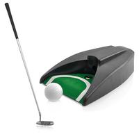 High quality fashion mini indoor home office zinc alloy self-assemble golf ball putting machine putter