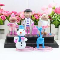Free Shipping 5PCS/lot Doc McStuffins Set Doc McStuffins PVC action figure toys with base