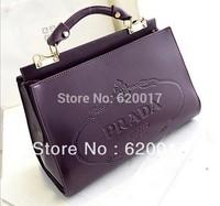 European and American minimalist fashion printed cowhide handbag shoulder bag tide handbags wholesale and retail Free shipping