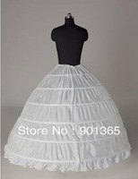 Hot sale  Petticoat Newest  White 6 HOOP PETTICOAT crinoline SLIP Underskirt BRIDAL WEDDING dress