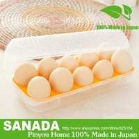 Pinyou Home, Egg storage box, crisper, egg storage, storage box, box, 10 eggs, Creative household items made in Japan, D5047
