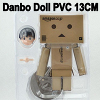 New 2014Lovely Danboard Danbo Doll PVC Action Figure Toy with LED Light Amazon Style 13cm